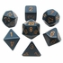 Chessex Opaque Dusty Blue With Gold Polyhedral 7 Die Set