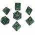 Chessex Opaque Dusty Green With Gold Polyhedral 7 Die Set