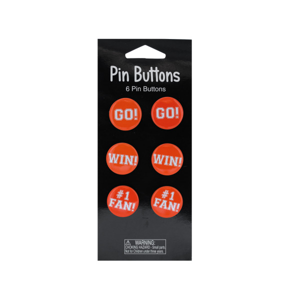 Orange Pin Button