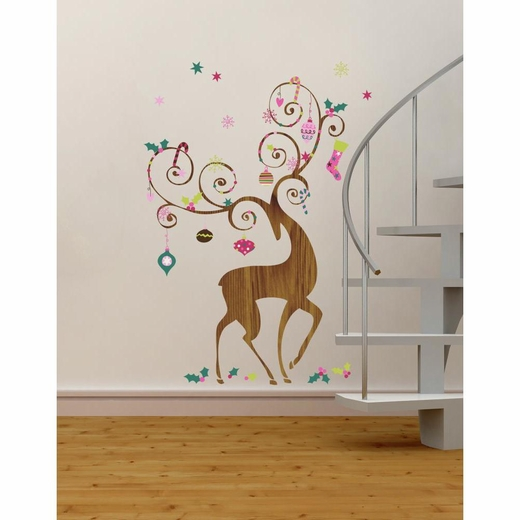 Ornamental Reindeer Giant Decal