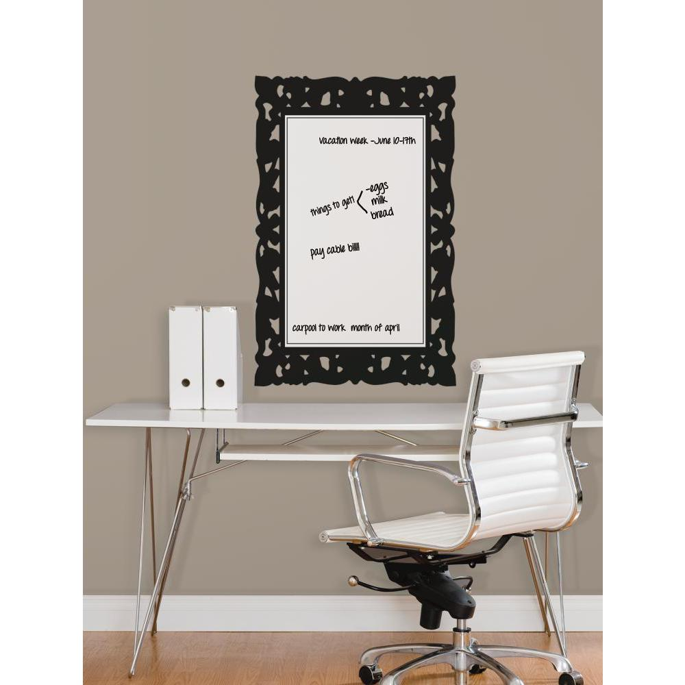 Ornate Frame Dry Erase Decal