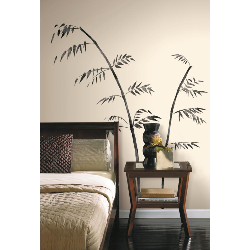 Painted Bamboo Peel And Stick Giant Wall Decal
