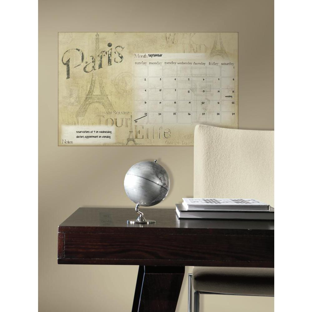 Paris Dry Erase Calendar Decal