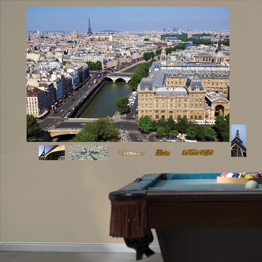 Paris Skyline By Day Mural REALBIG Wall Decal