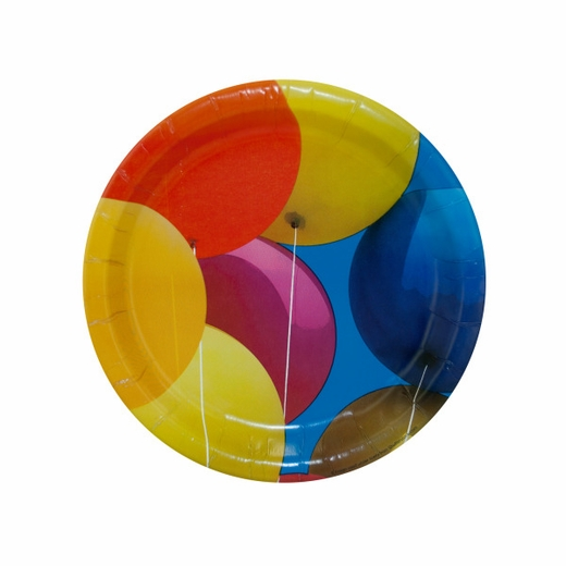 Party Plates With Balloon Design
