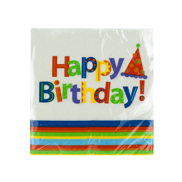 Party Stripes Birthday Napkins