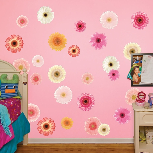 Pastel Daisies REALBIG Wall Decal