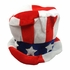 Red White And Blue Patriotic Felt Top Hat