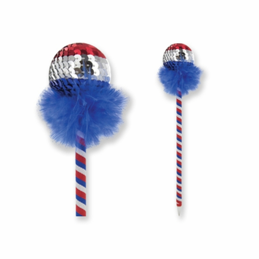 Patriotic Sequin Pen
