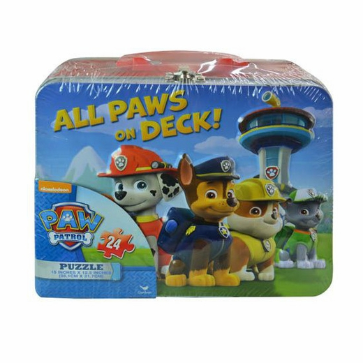 Paw Patrol Tin Lunch Box With Puzzle
