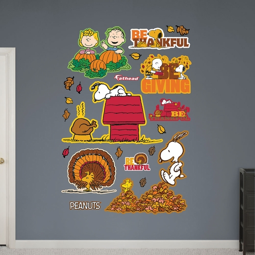 Peanuts Thanksgiving Collection REALBIG Wall Decal