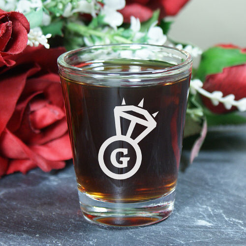 Personalized Bride Shot Glass