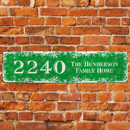 Personalized Christmas Home Address Sign