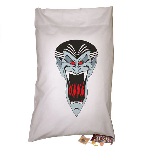 Personalized Dracula Trick Or Treat Sack