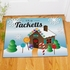 Personalized Gingerbread House Doormat