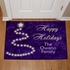 Personalized Happy Holidays Christmas Doormat