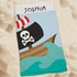 Personalized Pirate Beach Towel