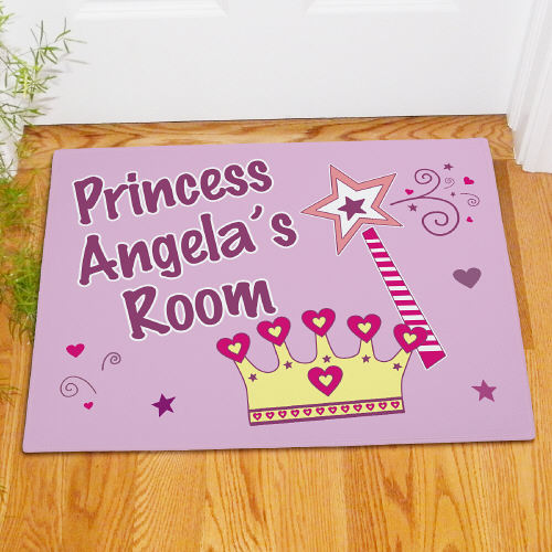Personalized Princess Crown Doormat