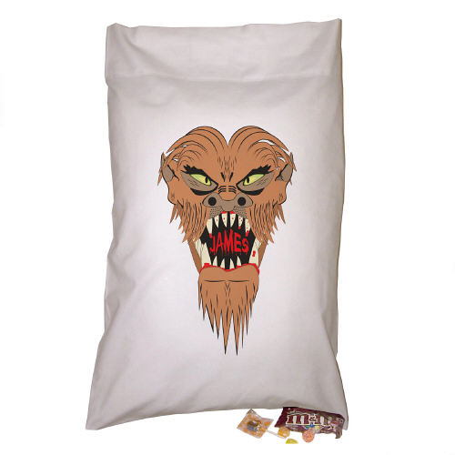 Personalized Werewolf Trick Or Treat Sack