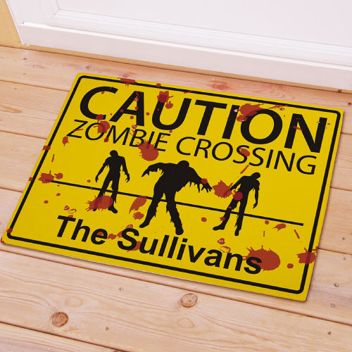 Personalized Zombie Crossing Doormat