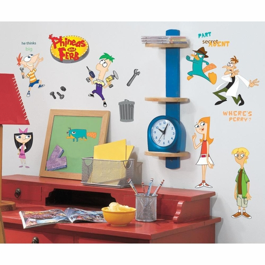Phineas And Ferb Peel And Stick Wall Decal