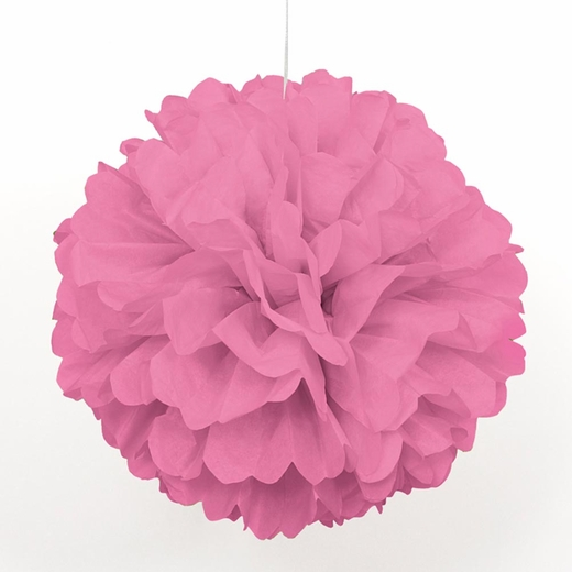 "Pink 16"" Puff Ball Decoration"