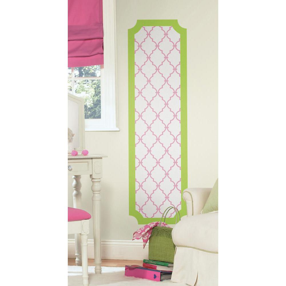 Pink and Lime Trellis Deco Panel