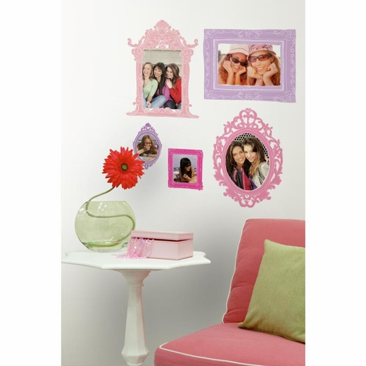 Pink And Purple Frames Peel And Stick Giant Decal