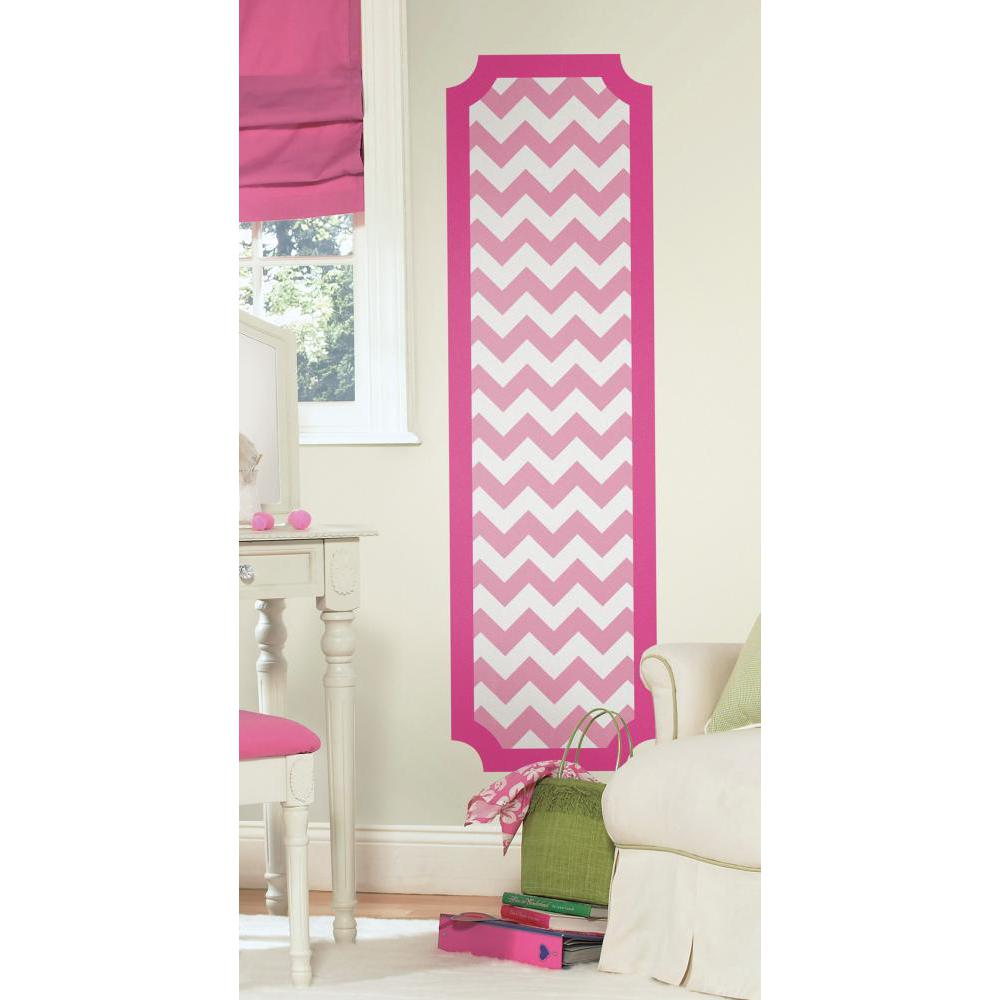 Pink and White Chevron Deco Panel