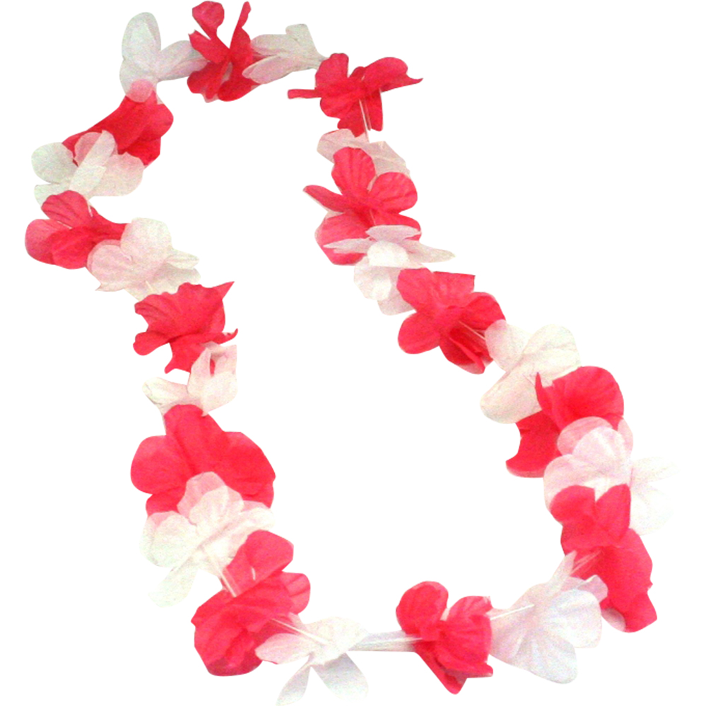 And white flower lei pink and white flower lei mightylinksfo Images