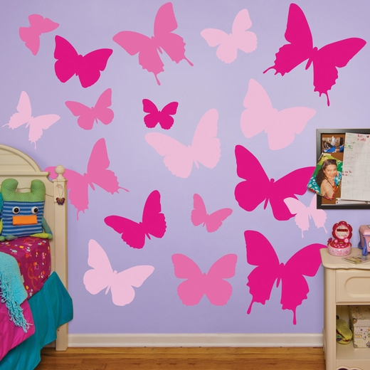 Pink Butterflies REALBIG Wall Decal
