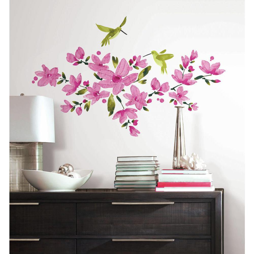 Pink Flowering Vine Decal