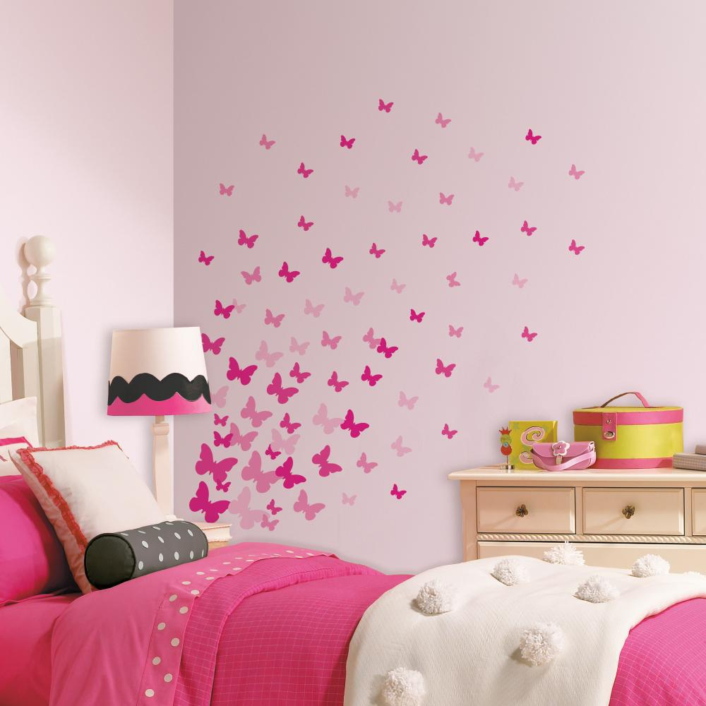 Pink Flutter Butterflies Decal