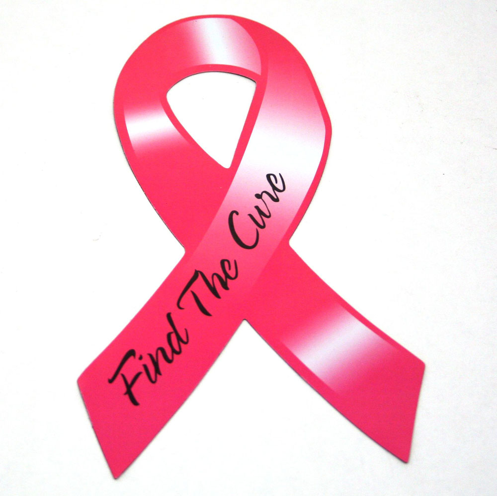 Breast Cancer Car Magnets
