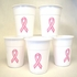 Pink Ribbon Disposable Cups
