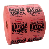 Pink Single & Double Raffle Tickets