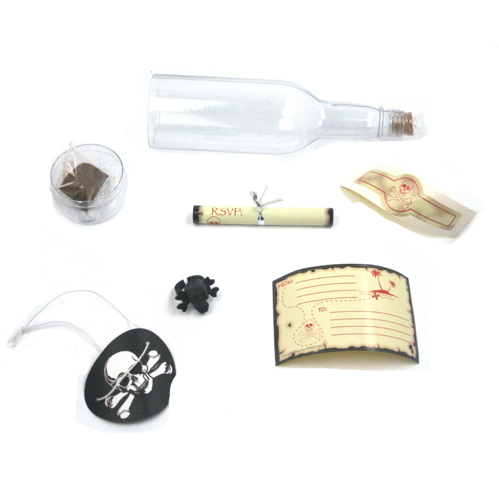 Pirate Party Invitations In Bottles