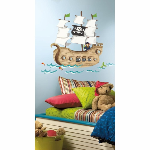 Pirate Ship Peel And Stick Giant Decal