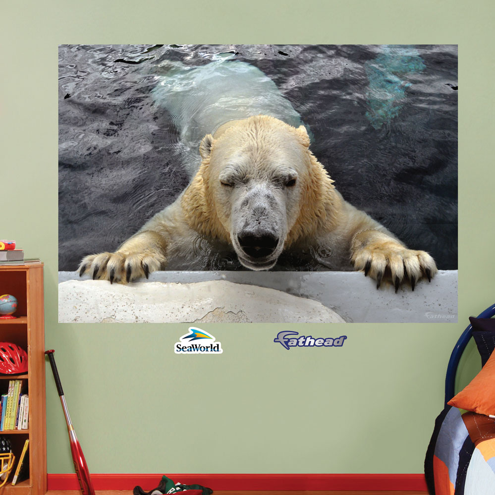 Polar Bear Mural REALBIG Wall Decal
