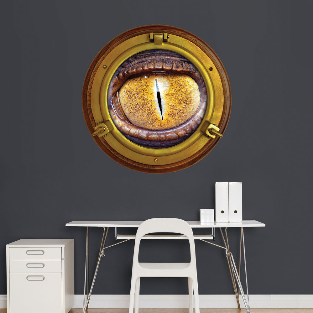 Porthole Monster Eye Instant Window Wall Decal