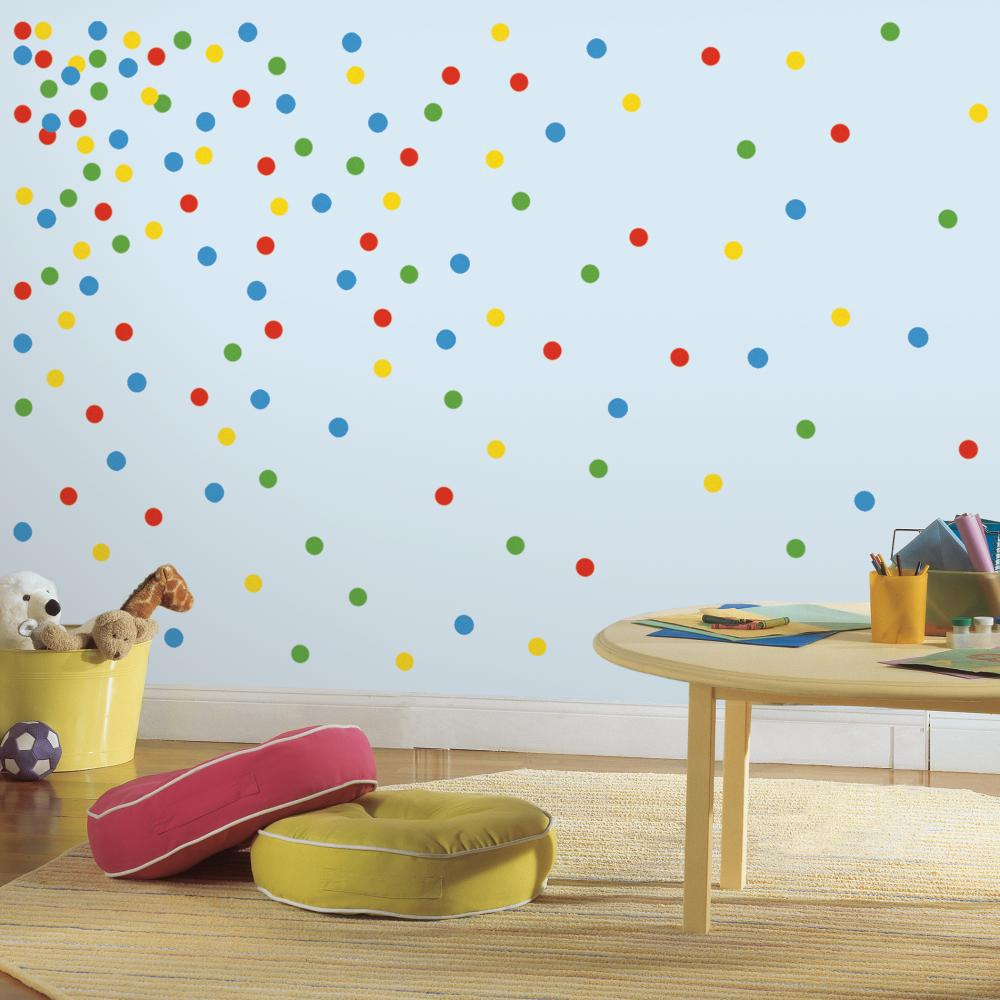 Primary Confetti Dots Decal