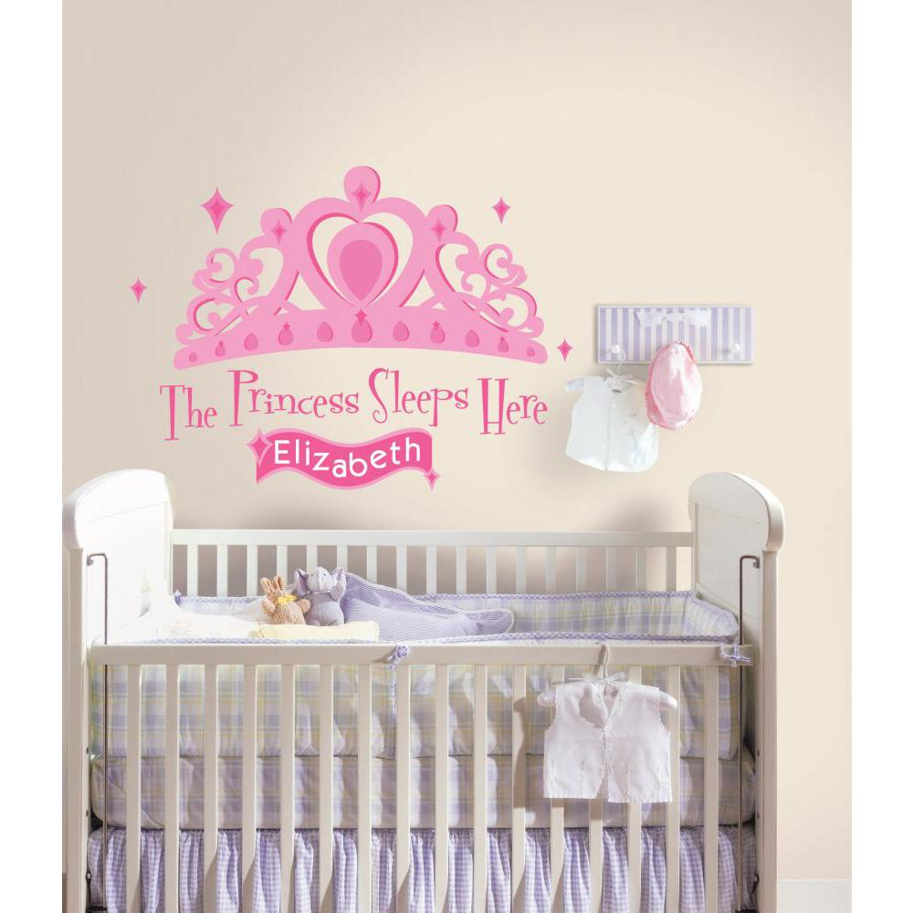 Princess Sleeps Here Giant Decal w-Personalization