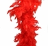 Red Feather Boa (6', 60 grams)