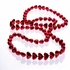 Red Metallic Heart Shaped Bead Necklaces