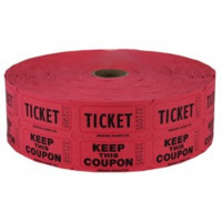 Red Single & Double Raffle Tickets