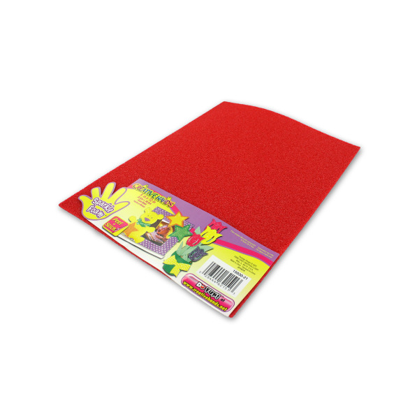 red sparkle foam craft sheet