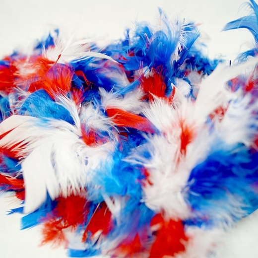 Red White And Blue Patriotic Feather Boa (6' 60 grams)