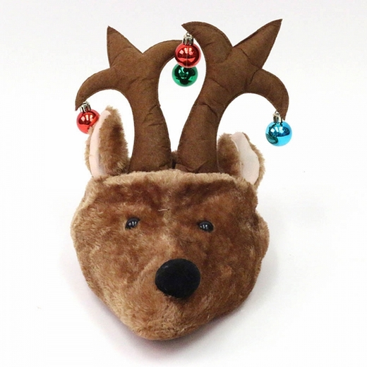 Reindeer Head Christmas Hat