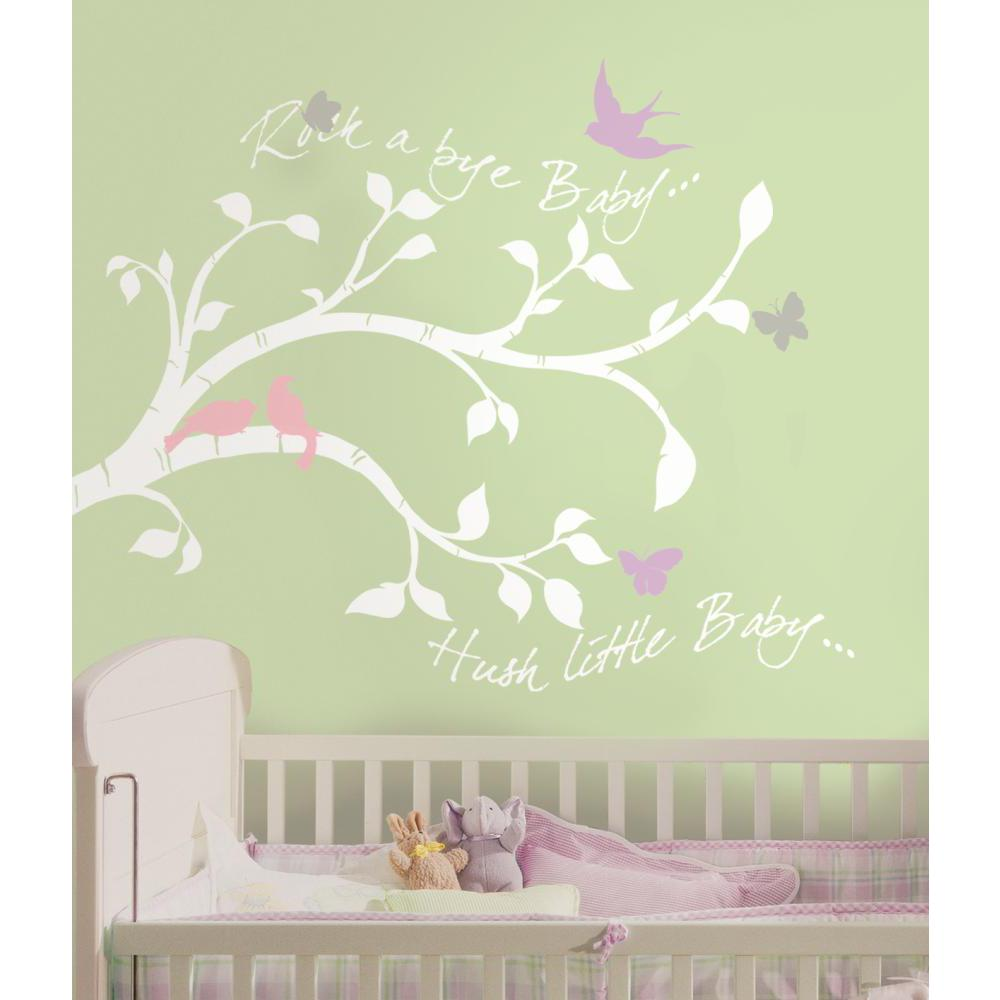 Rock-a-bye Bird Branch Peel And Stick Giant Decal