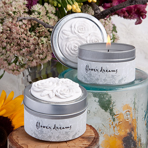 rose ancienne collection scented candle tin favors. Black Bedroom Furniture Sets. Home Design Ideas